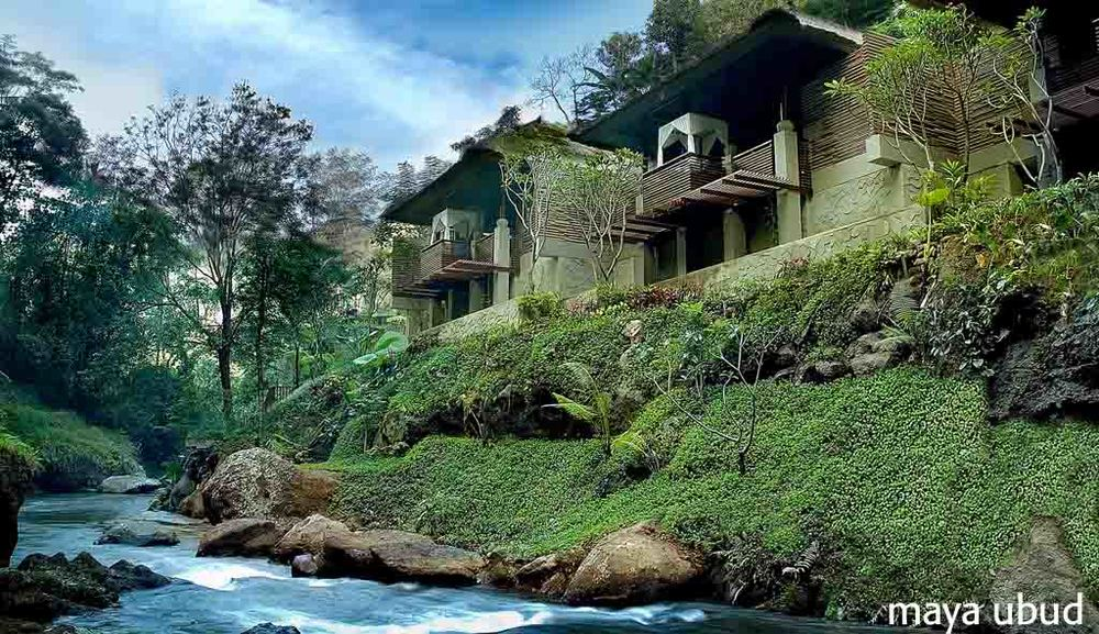Spa is an exotic retreat overlooking the the jungle's Petanu River.